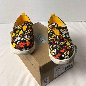 Toms Lumin Black Floral Sneaker Shoes